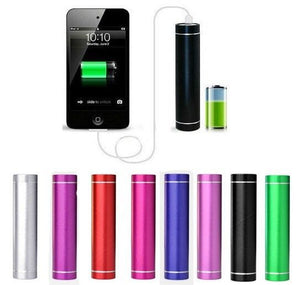 OEM 2600mah Metal Cylinder powerbank portable backup battery charger for samsung android iPhone smart phone
