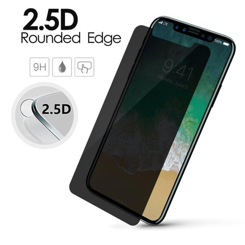 China Wholesale iPhone X Anti Spy Privacy Tempered Glass Screen Protector CHeap Factory Price Supplier Bulk Lots USA Distributor3