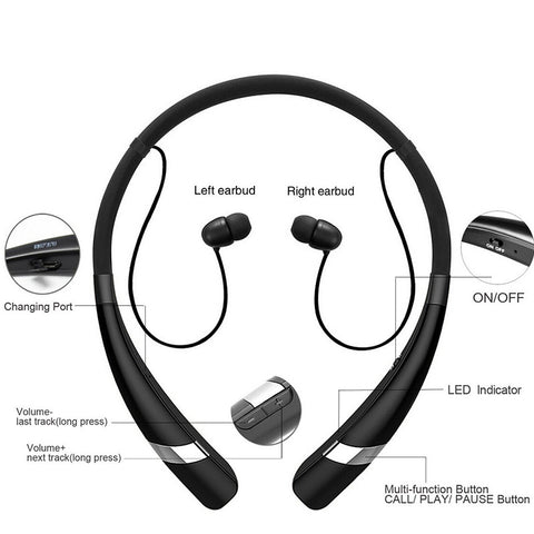 Image of Sweatproof Bluetooth Headphone  Hv-960 Wireless Earphone Neckband Headsets Sport Devices
