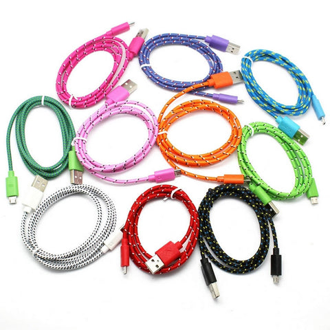 colorful nylon bungee rugged cable braided charger from wholesale supplier bulk lots factory