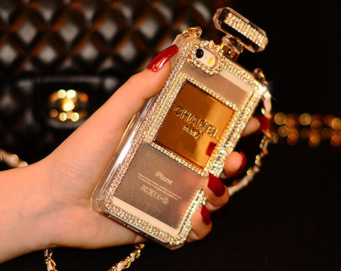 Perfume Bottle Phone case with chain