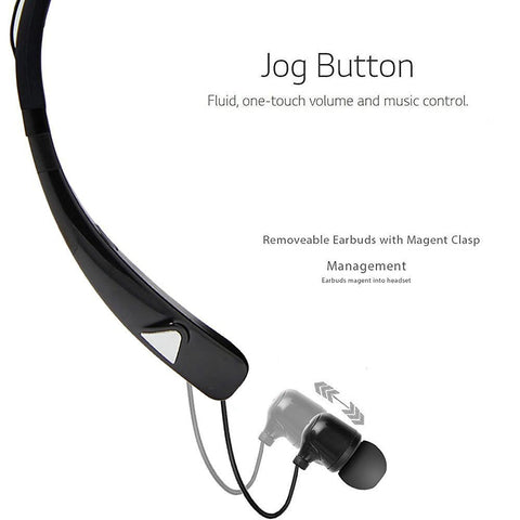 Magnet clasp HV-980 Bluetooth Headphones Wireless Neckband Headset HandsFree Stereo Earphones Noise Canceling with Mic