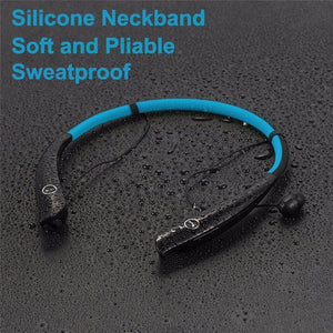 Sweat-proof HV-930 Sport Wireless Stereo Bluetooth 4.0 Music Earphone Stereo Headset Neck-strap  Headphones with Mic
