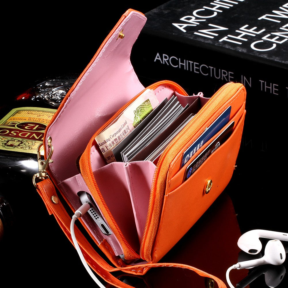 wholesale distributor leather phone cases cellphone purse pouch wallet