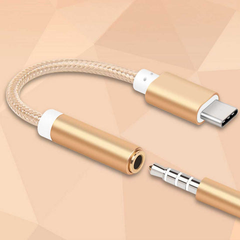 Image of Type C to 3.5mm Aux Audio jack Music Connector Adapter for Type C Phones