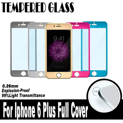 Image of Wholesale 3d Titanium Alloy full screen tempered glass screen protector for iPhone 6 6s plus