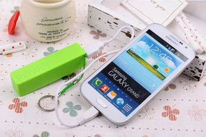 OEM 2600mah Twisted perfume powerbank portable backup battery charger for smart phone