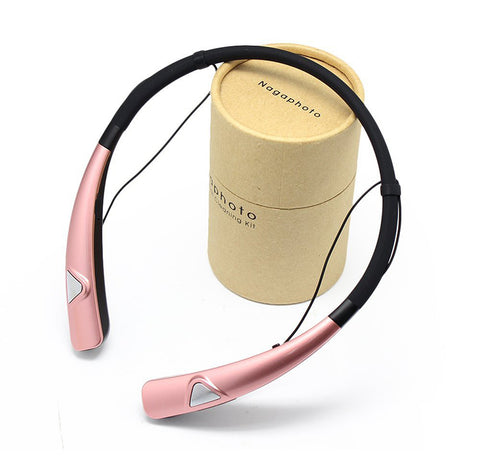 Image of Nneckhand headset HV-980 Bluetooth Headphones Wireless Neckband Headset HandsFree Stereo Earphones Noise Canceling with Mic