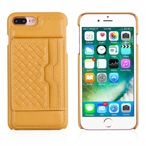 Hybrid PU Leather + PC Credit Card Wallet Case Cover for iPhone 6/6s 6Plus 7 7Plus 8 8Plus X