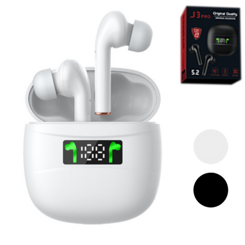 🔥 J3 Pro Wireless Earbuds with LED Screen