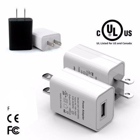 Image of 2A Turbo Fast 5V UL Certified Universal USB Wall Adapter High Speed Adapter