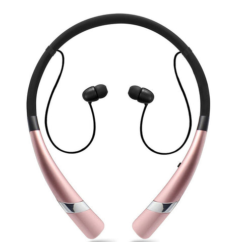 Image of Hv-960 Bluetooth Earphone  Wireless Headphone Neckband Headsets Sport Sweatproof Earbuds for Bluetooth Devices
