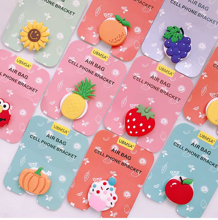 3D Fruits Design Pop Up Phone Holders Grip