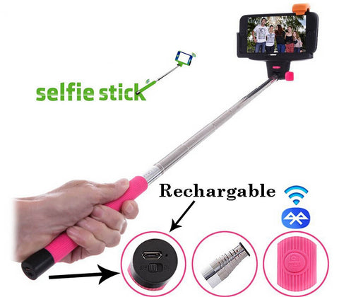 Rechargeable Wireless Bluetooth selfie stick