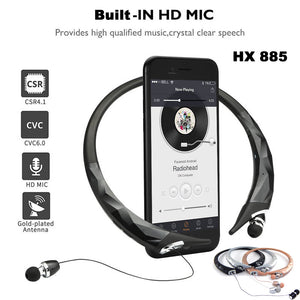 China Wholesale OEM HX 885 Wireless Sports Bluetooth Earbuds Headphones Handsfree music Supplier