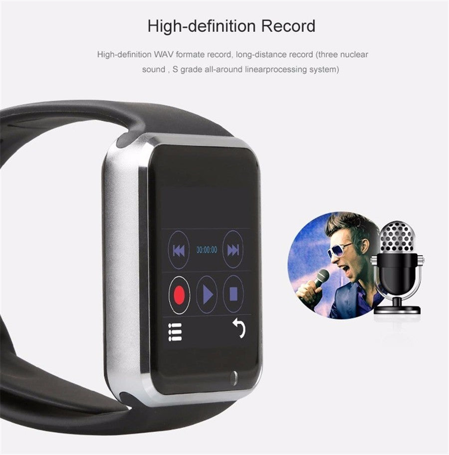 High defination New Fashion Smart Watch G10D Bluetooth Wristwatch Sport Pedometer MTK6261D Sim Card Inteligente Smartwatch For Android Phone