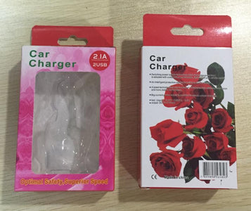 rose flower design car charger in retail packing wholesale bulk lots