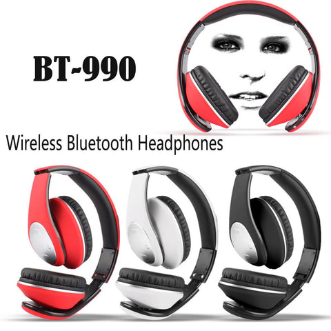 Image of Wholesale China BT-990 bluetooth Headphones headset with Bluetooth 4.0 Stereo and microphone for music wireless headphone BQB Certification