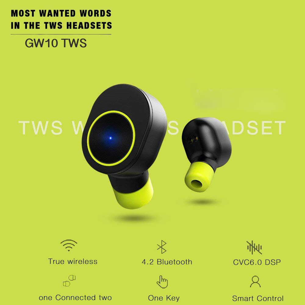 GW10 TWS Earbuds Bluetooth 4.2 with charging case
