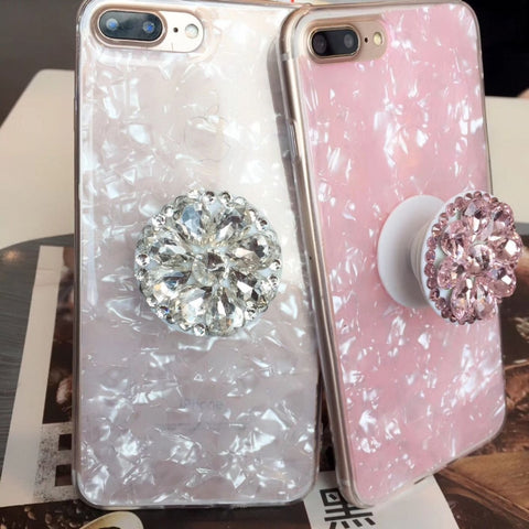 Image of 3d Diamond Crystal Pop up Expandable Phone Grip Holders