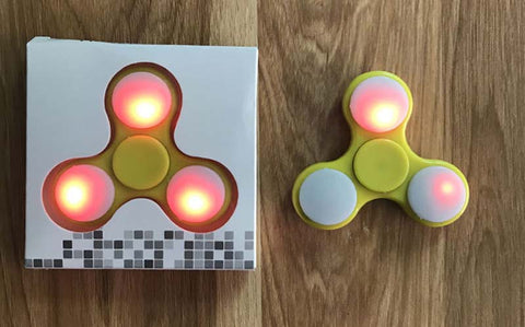Ultra-durable Metal Body With LED Light, Ceramic Bearing Ball Cheap China LED Light Hand Finger Spinner Plastic For Autism and ADHD Relief Focus Anxiety Stress Gift Toys S2 Bulk Mass
