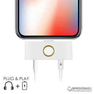 China Supplier Cheap Price Wholesale USA Distributor Factory Bulk Lots Manufacturer iPhone X External Home Button with 3.5mm Aux Audio Jack and Lightning Port