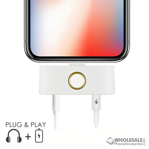 Image of  China Supplier Cheap Price Wholesale USA Distributor Factory Bulk Lots Manufacturer iPhone X External Home Button with 3.5mm Aux Audio Jack and Lightning Port