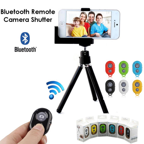 Wholesale Bluetooth camera shutter for iPhone samsung cellphone smartphone selfie stick