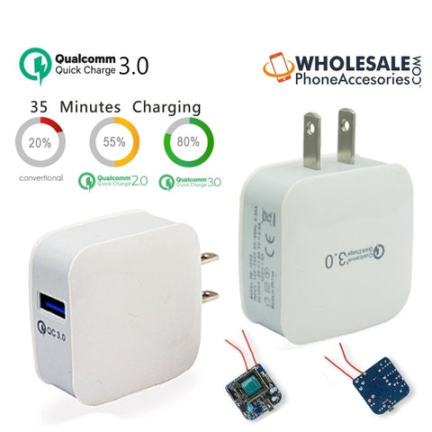 China Supplier QuallComm 3.0 Quick Charge Travel Home Fast Wall Charger for Mobile Phone QC3.0 Cheap Price Wholesale USA Distributor Factory Bulk Lots  Manufacturer
