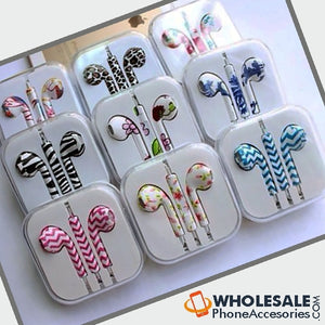 oem earphone earbuds pods leopard zebra print for iPhone