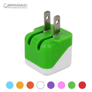 China Supplier Colorful Travel Wall Charger Adapter 5V 1A USA Plug For iPhone Samsung Android Cheap Price Wholesale USA Distributor Factory Bulk Lots Manufacturer