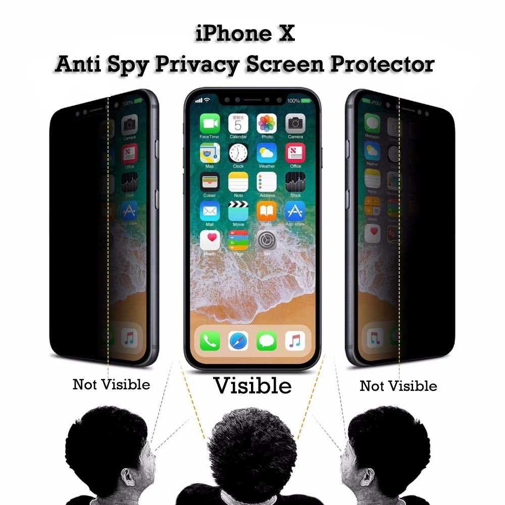 China Wholesale iPhone X Anti Spy Privacy Tempered Glass Screen Protector CHeap Factory Price Supplier Bulk Lots USA Distributor