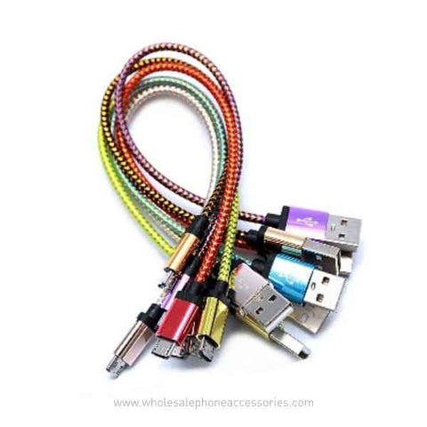 China Supplier 20cm(7.8 inches) Short Braided USB Cable Charger for iPhone AndroidCheap Price Wholesale USA Distributor Factory Bulk Lots  Manufacturer