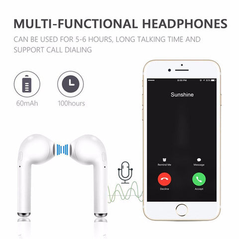 Image of HBQ i7 Tws Twins Bluetooth Wireless Earbuds Headsets