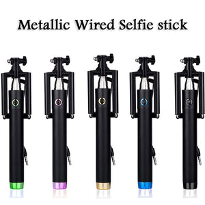 Wholesale Cheap price metallic selfie stick bulk lots