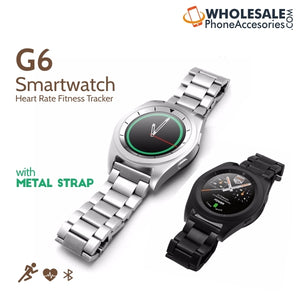 China Supplier Cheap Price Wholesale USA Distributor Factory Bulk Lots  Manufacturer No.1 G6 Smartwatch Heart Rate Fitness Tracker with  Metal Strap