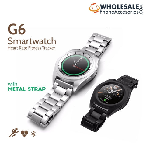 Image of  China Supplier Cheap Price Wholesale USA Distributor Factory Bulk Lots  Manufacturer No.1 G6 Smartwatch Heart Rate Fitness Tracker with  Metal Strap
