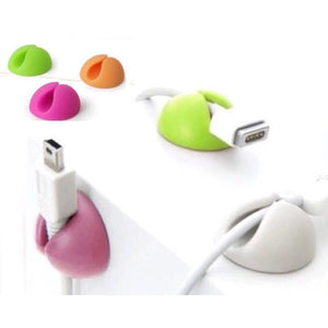 Sticky silicon round on desk cable winders organizers for wires