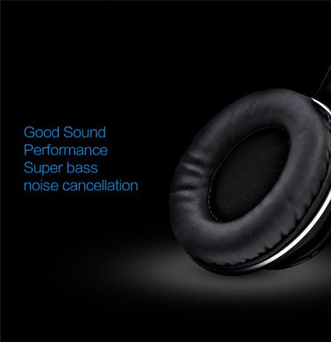 Image of BT-990 Headband Bluetooth Wireless Headphone Stereo Foldable Adjustable Length Voice Prompt