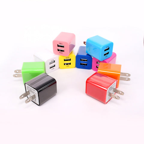 Image of Wholesale supplier usb dual port wall home charger travel plug adapter