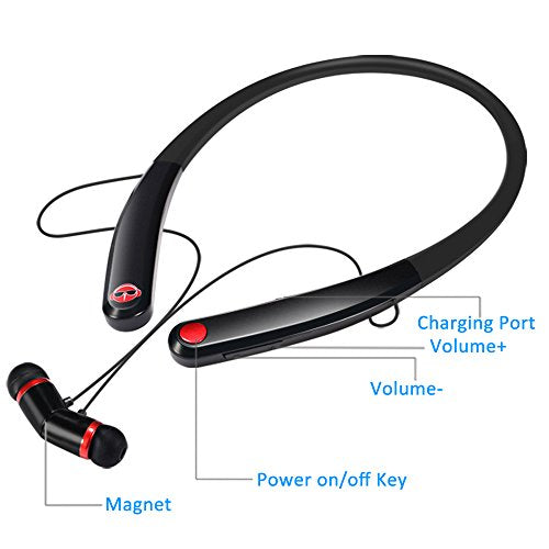 Beautiful Hv-990 Wholesale China Bluetooth-Headsets-Sport-Wireless-Telescopic Line Design-Earphone-Magnetic Suction-Headphone-with-Microphone-Stereo-Earphones-for-Samsung Factoy Bulk Shipping
