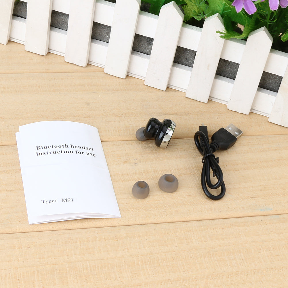 Bluetooth M91 Headphone Wireless Headset Mini Earphone Handsfree Earbuds Suilt for Both Right and Left Ear for Android IOS  Phones Cheap China Price