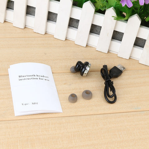 Image of Bluetooth M91 Headphone Wireless Headset Mini Earphone Handsfree Earbuds Suilt for Both Right and Left Ear for Android IOS  Phones Cheap China Price
