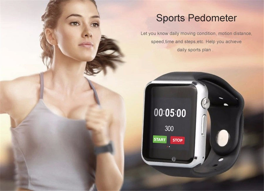Smart Watch G10D Bluetooth WristWatch Sim Card Phone Clock Sport Pedometer MTK6261D Smartwatch for Android Smartphone