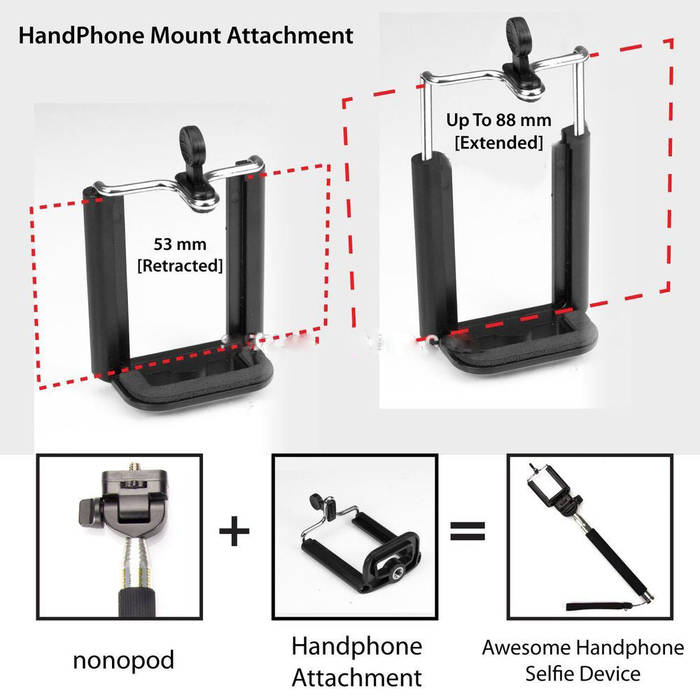 extendable phone mount selfie stick