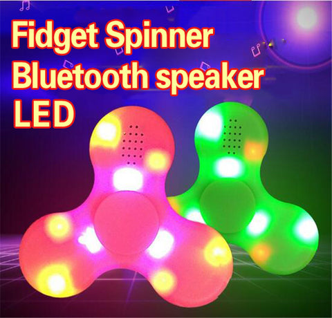 Wholesale China Factory Supplier  LED Bluetooth Speaker fidget hand spinner bulk lots price