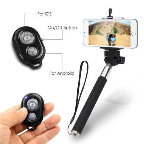Selfie stick bluetooth wireless remote button camera shutter for iPhone android