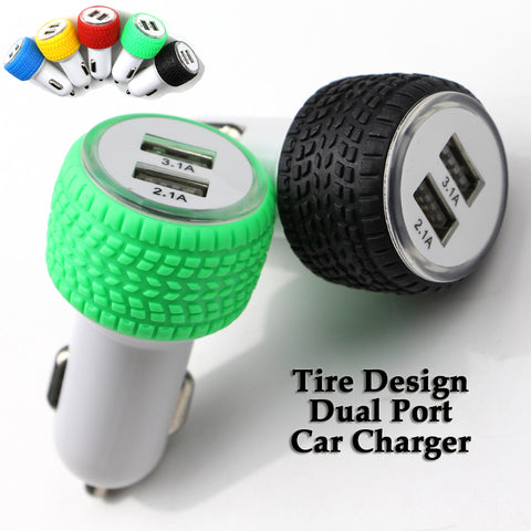 Image of Wholesale China Supplier OEM Tire design dual port car charger