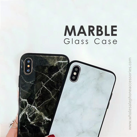China Supplier Marble Glass Case for iPhone X Cheap Price Wholesale USA Distributor Factory Bulk Lots Manufacturer