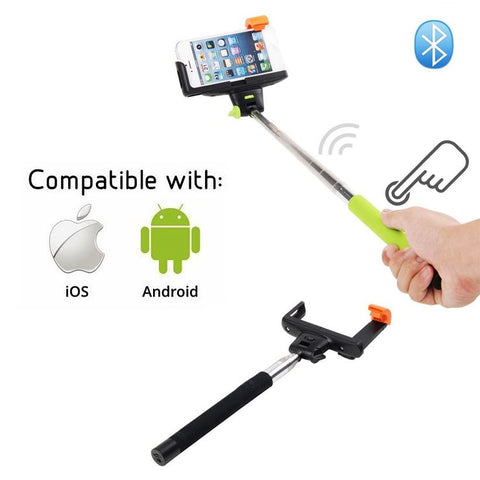 Image of Wireless selfie stick z07-5 with bluetooth button